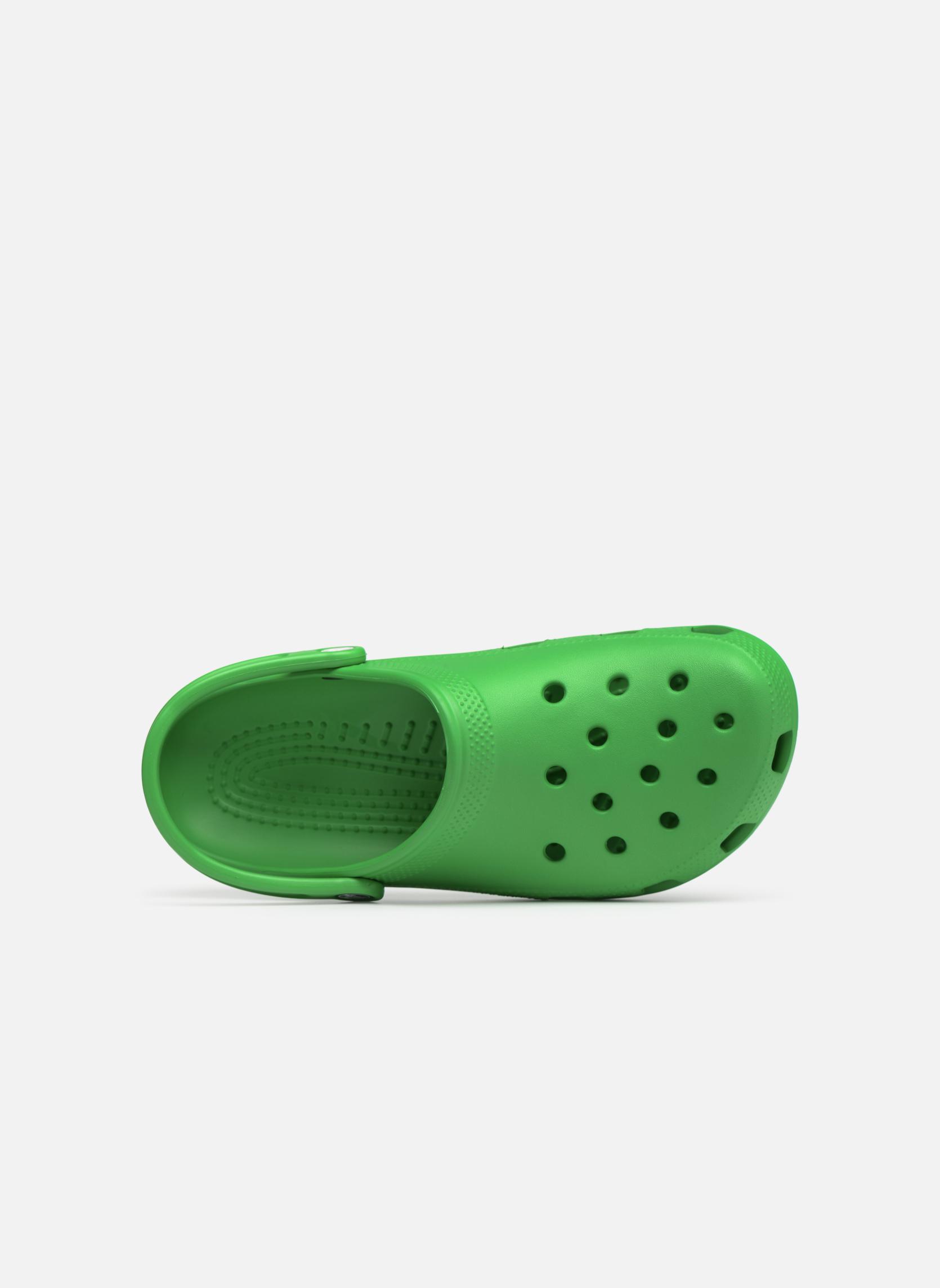 Sandalen Crocs Cayman H grün ansicht von links