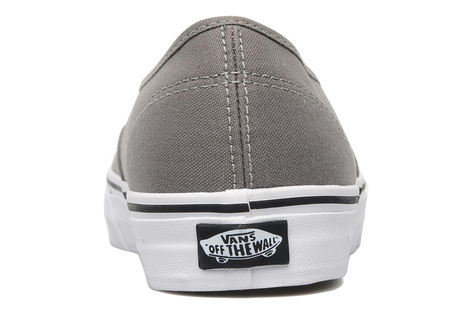 Trainers Vans Authentic Grey view from the right