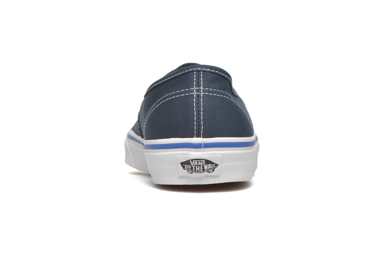 Sneakers Vans Authentic Blauw rechts