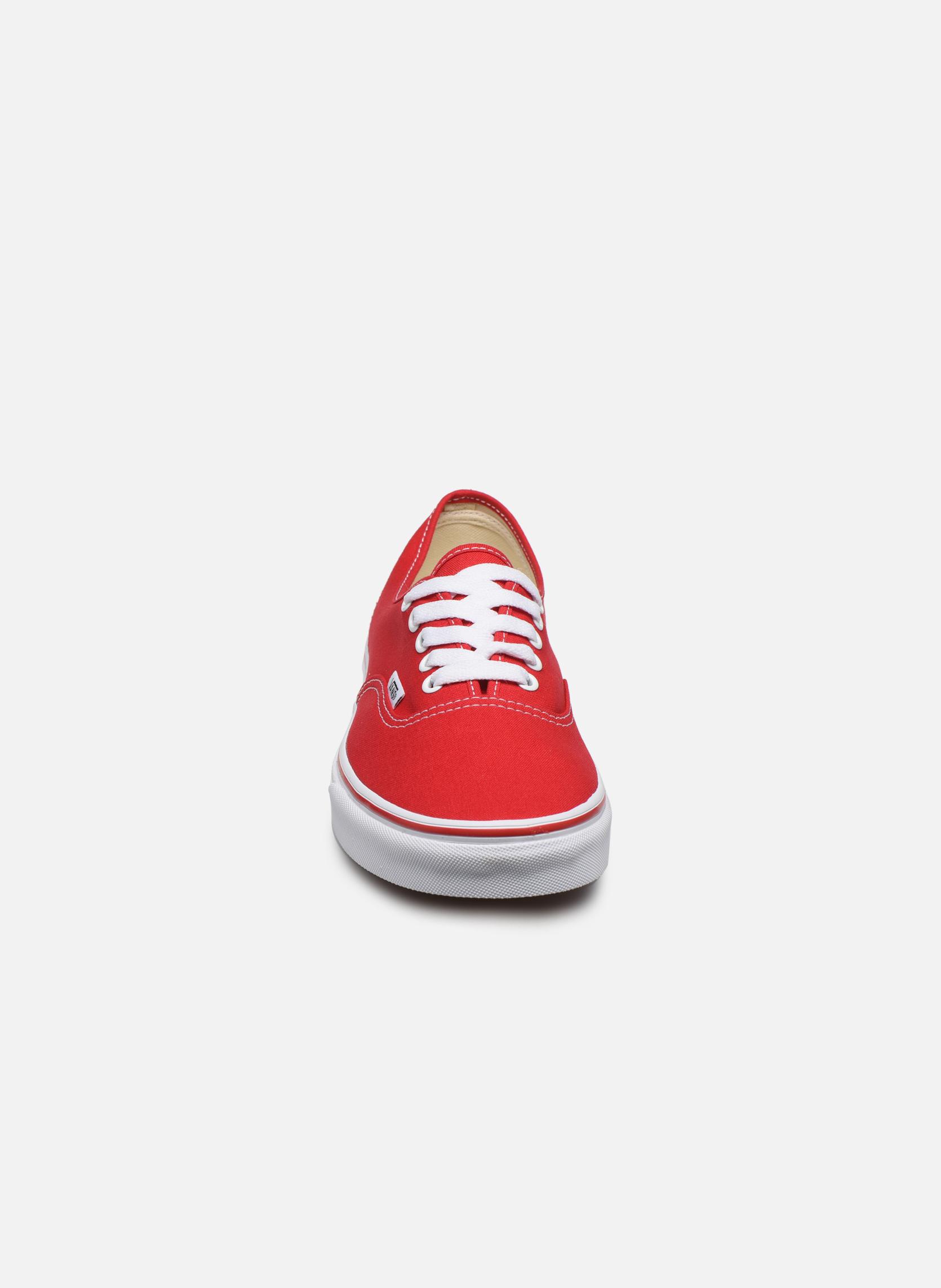 Baskets Vans Authentic Rouge vue portées chaussures