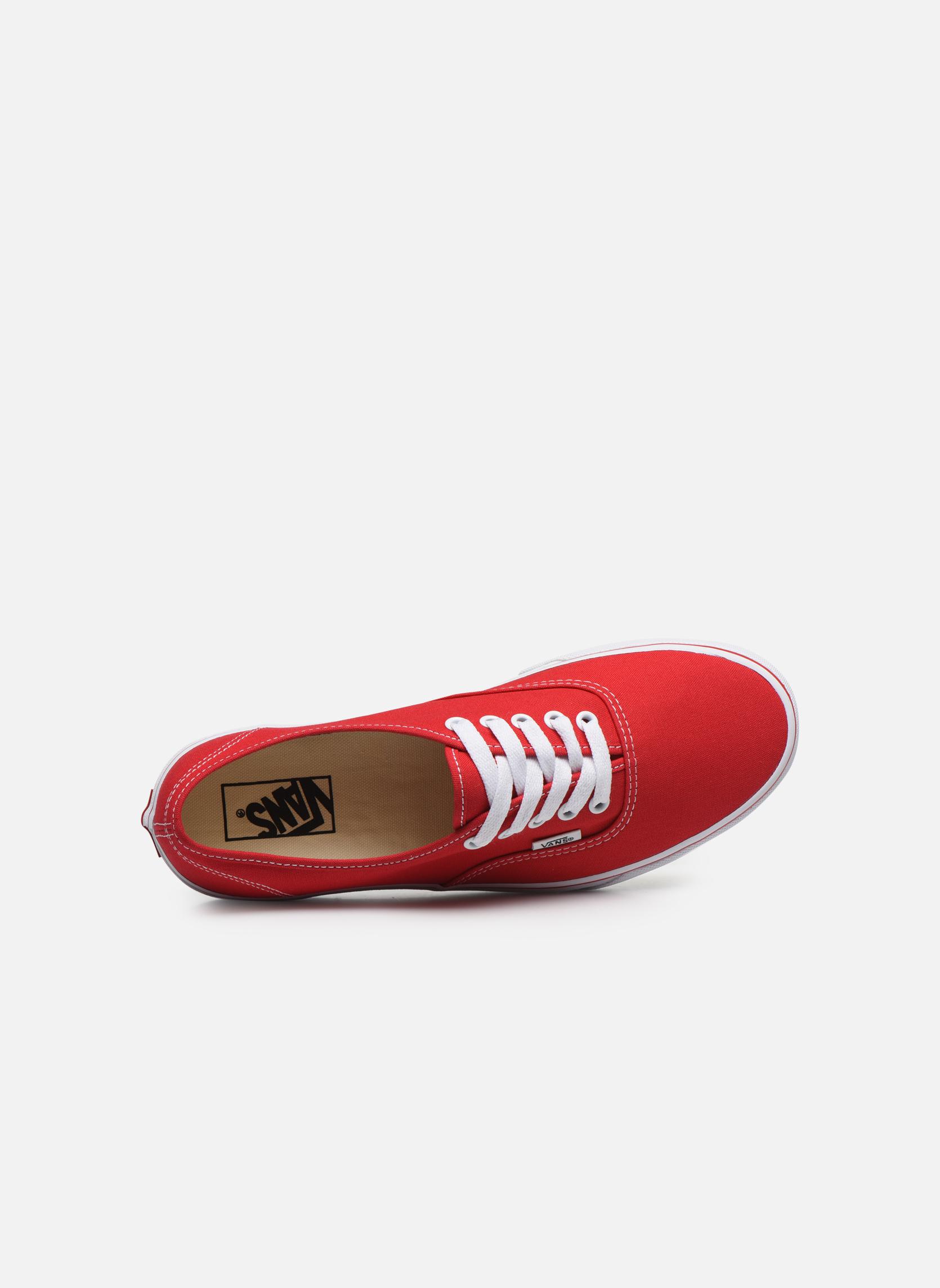 Sneakers Vans Authentic Röd bild från vänster sidan