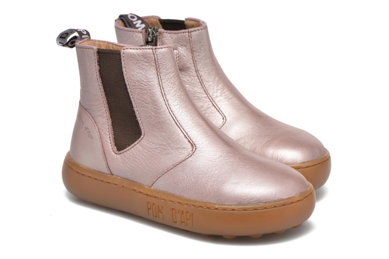 Bottines et boots Pom d Api Walk Jodpur Basic Rose vue 3/4