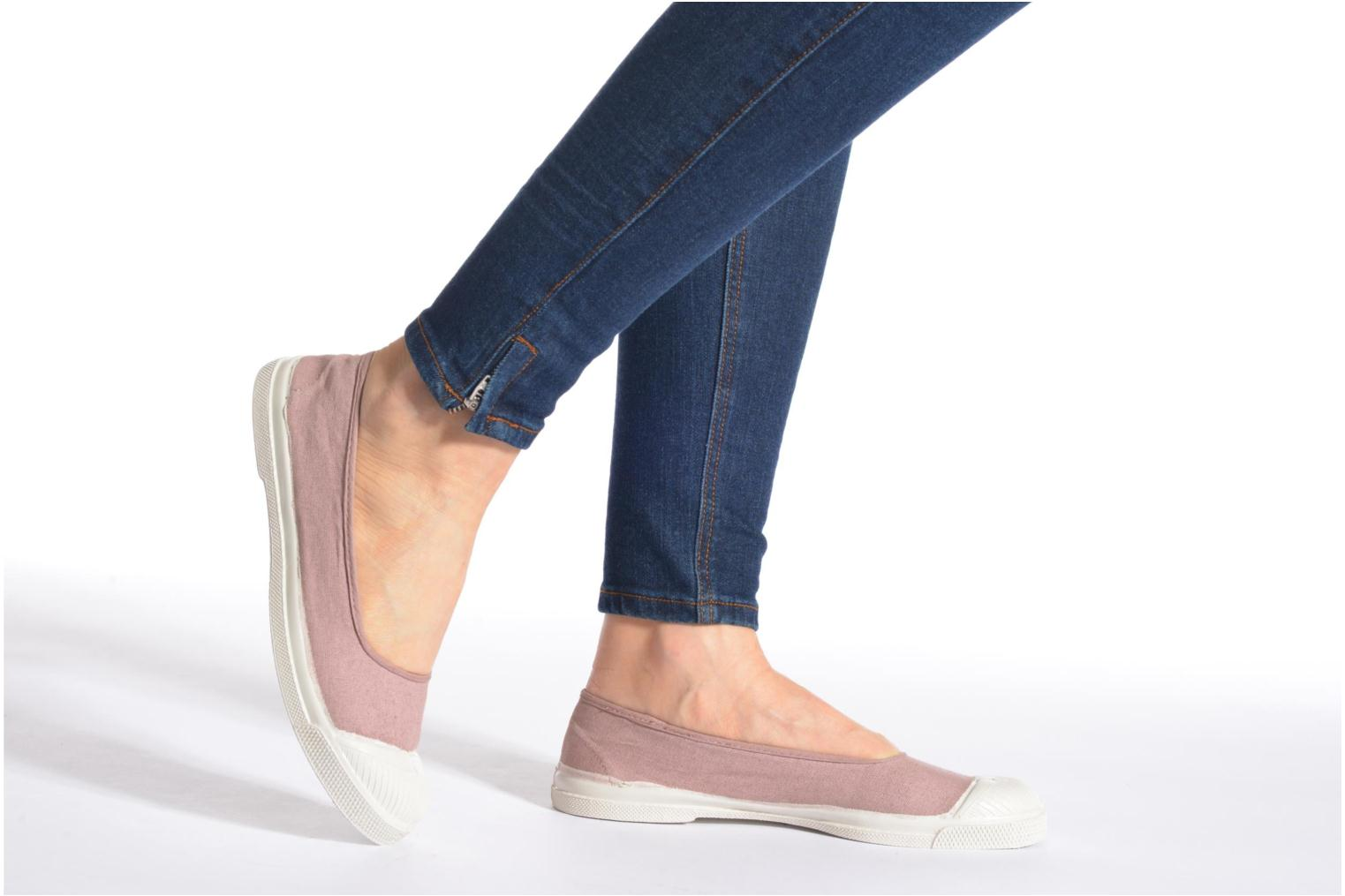 Ballet pumps Bensimon Ballerine Pink view from underneath / model view