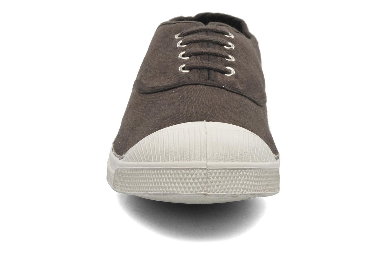 Baskets Bensimon Tennis Lacets H Marron vue portées chaussures