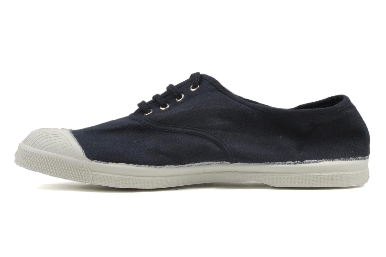 Baskets Bensimon Tennis Lacets H Bleu vue face