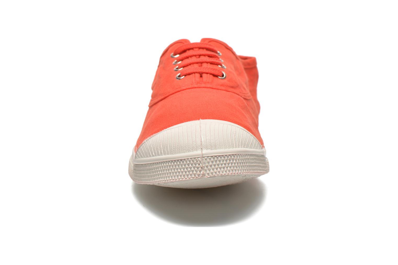 Baskets Bensimon Tennis Lacets H Rouge vue portées chaussures