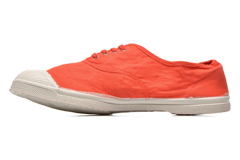 Baskets Bensimon Tennis Lacets H Rouge vue face