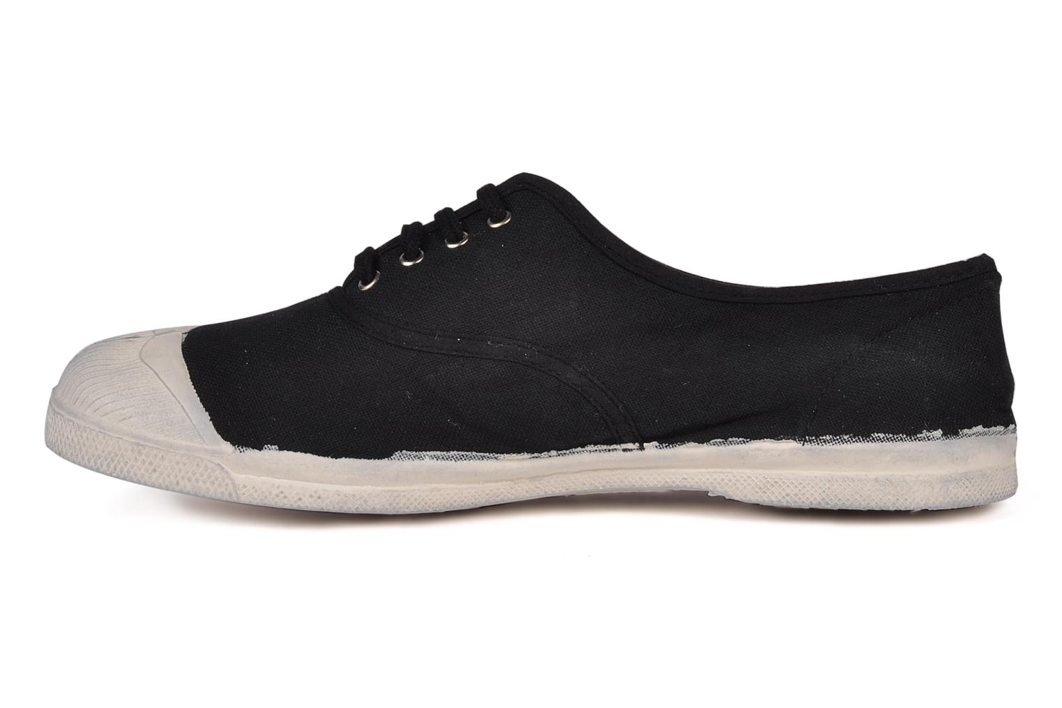 Baskets Bensimon Tennis Lacets H Noir vue face