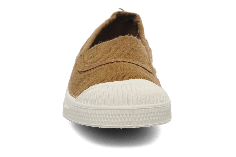 Baskets Bensimon Tennis Elastique E Marron vue portées chaussures