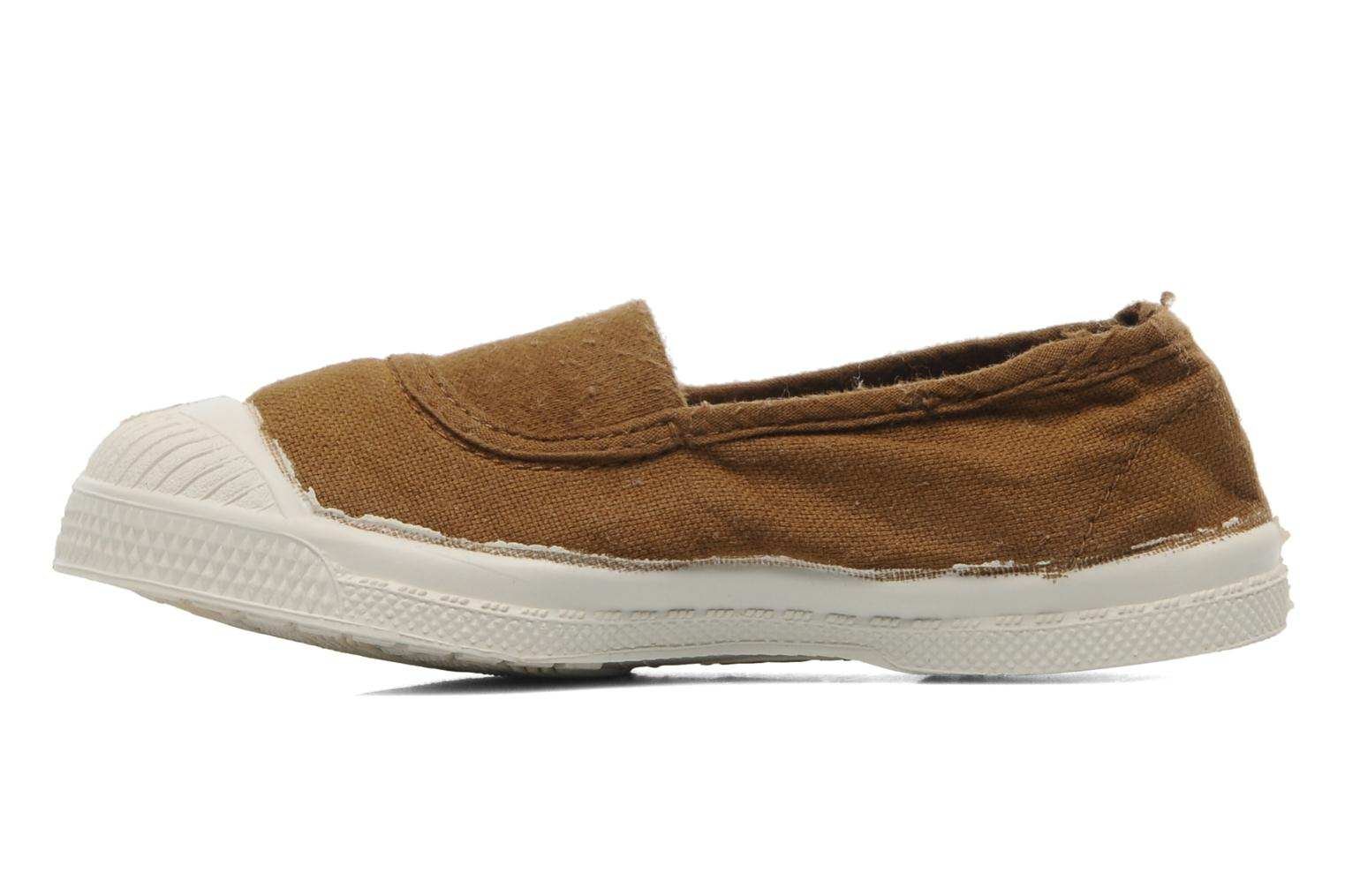 Baskets Bensimon Tennis Elastique E Marron vue face