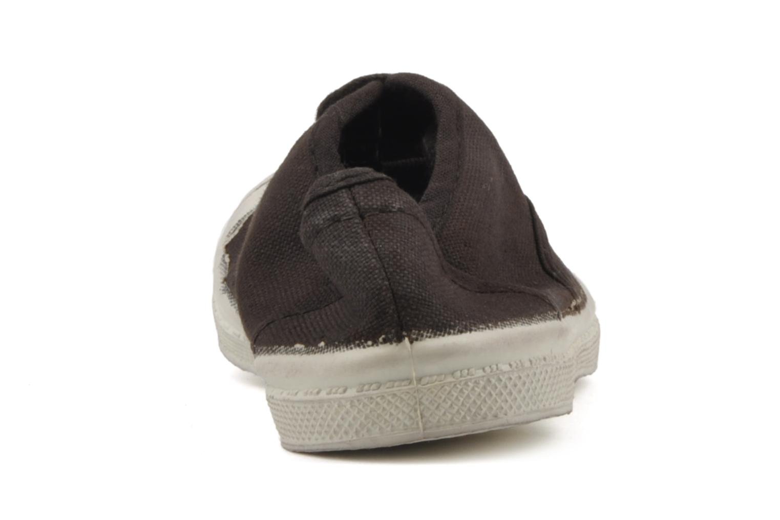 Baskets Bensimon Tennis Lacets E Marron vue droite