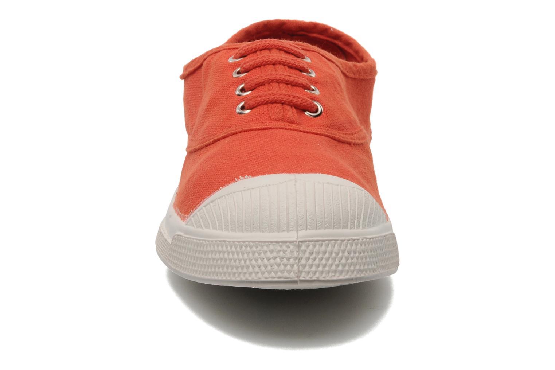 Baskets Bensimon Tennis Lacets E Orange vue portées chaussures