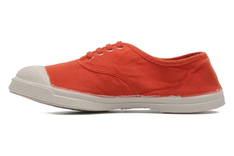 Baskets Bensimon Tennis Lacets E Orange vue face