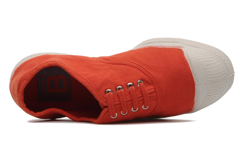 Baskets Bensimon Tennis Lacets E Orange vue gauche