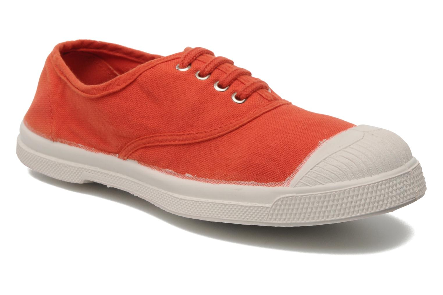 Trainers Bensimon Tennis Lacets E Orange detailed view/ Pair view
