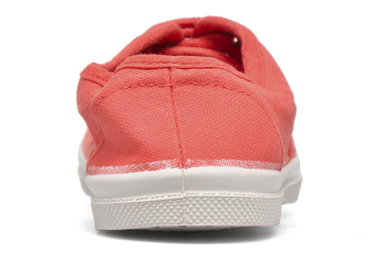 Baskets Bensimon Tennis Lacets E Rouge vue droite
