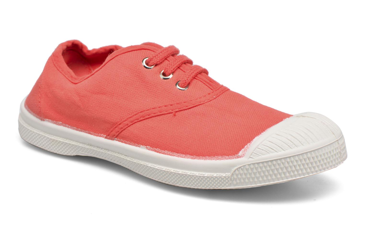 Trainers Bensimon Tennis Lacets E Red detailed view/ Pair view