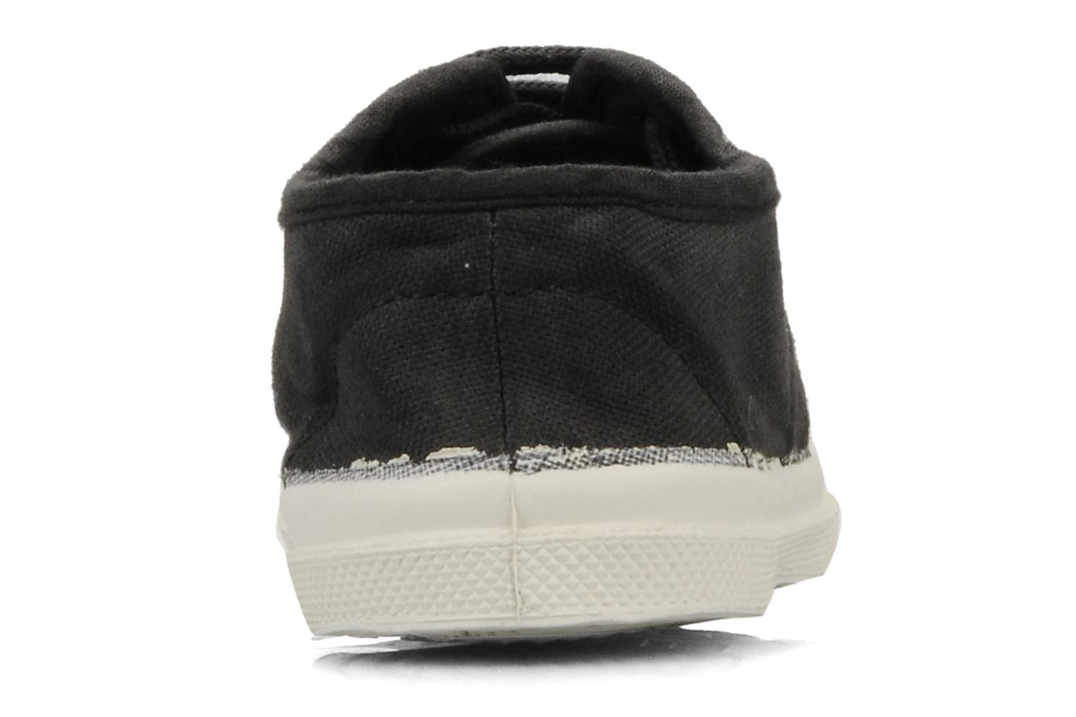 Trainers Bensimon Tennis Lacets E Black view from the right