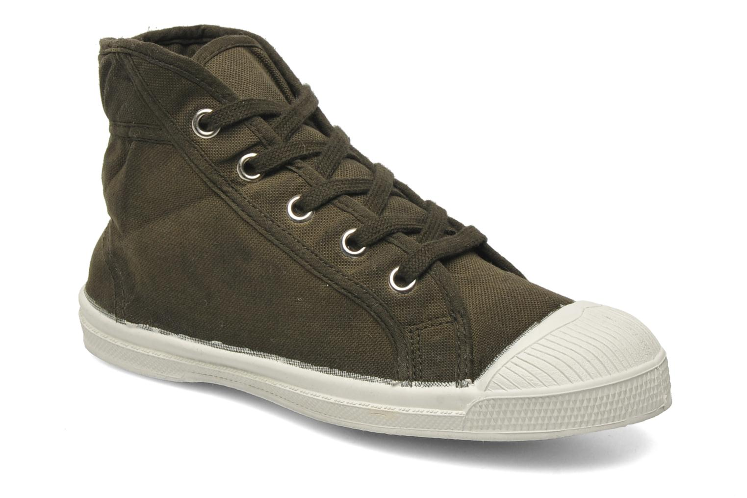 Trainers Bensimon Tennis Mid E Green detailed view/ Pair view