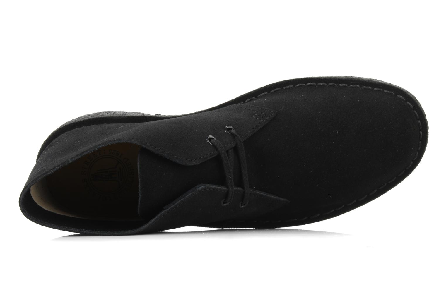 Lace-up shoes Clarks Desert Boot M Black view from the left