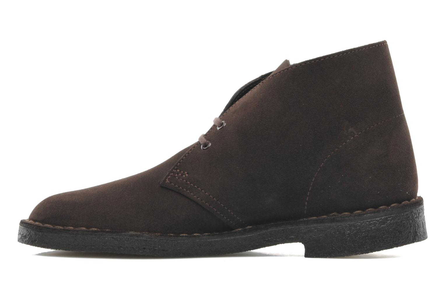 Lace-up shoes Clarks Desert Boot M Brown front view