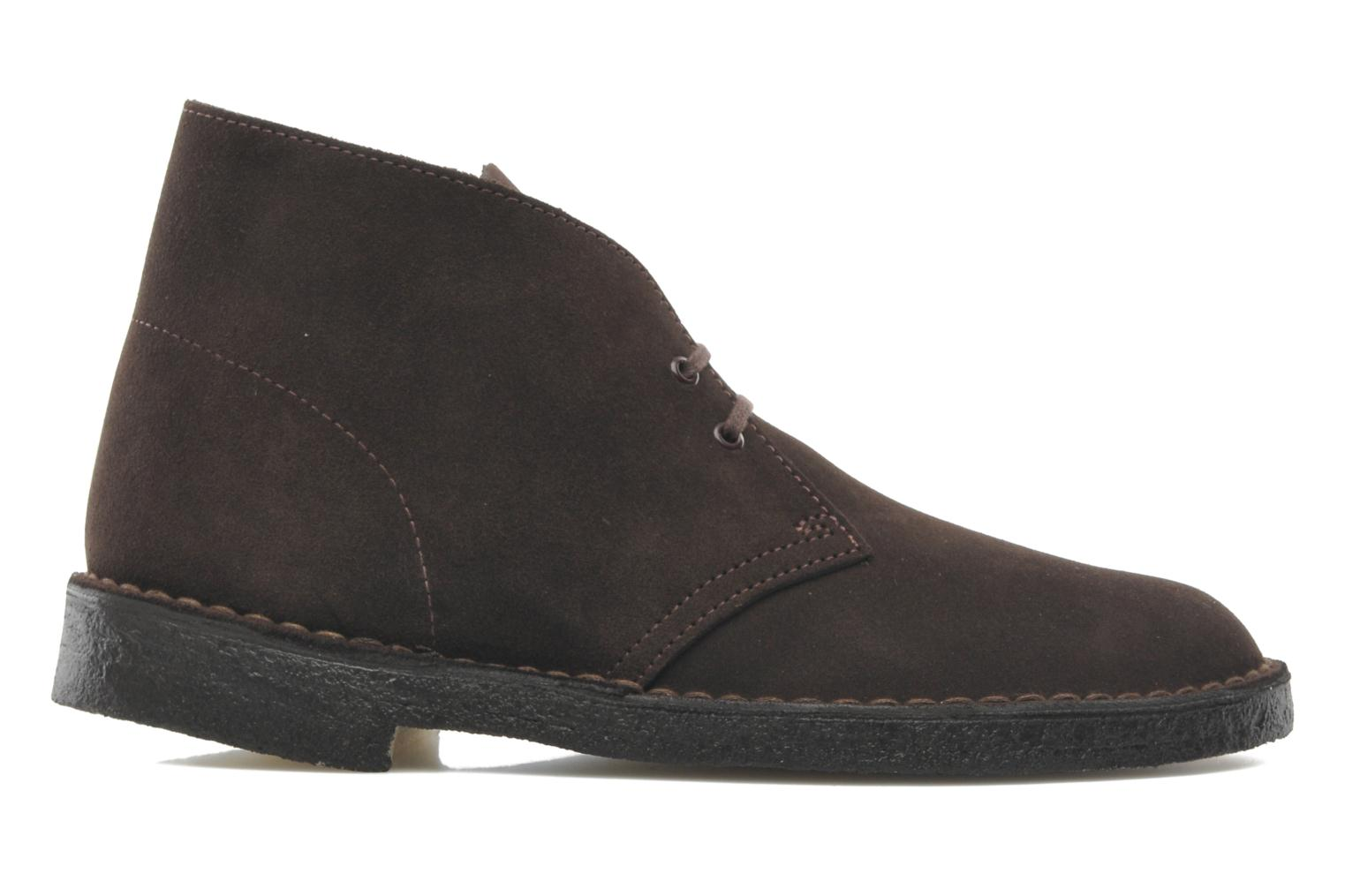 Lace-up shoes Clarks Desert Boot M Brown back view