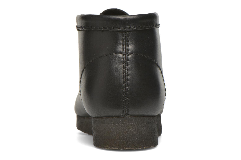 Chaussures à lacets Clarks Originals Wallabee Boot M Noir vue droite