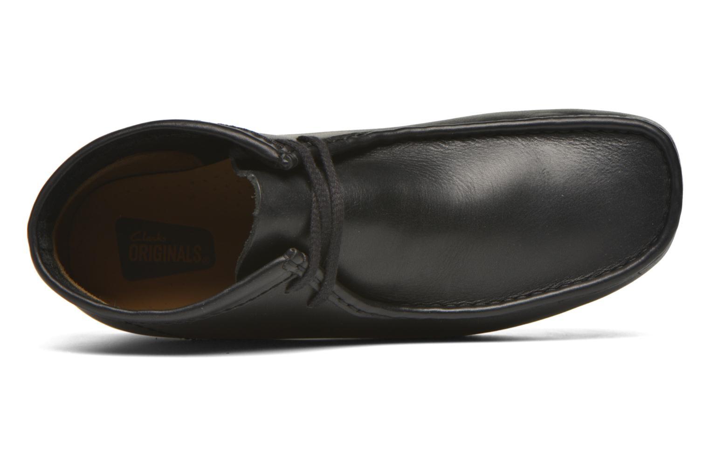 Chaussures à lacets Clarks Originals Wallabee Boot M Noir vue gauche
