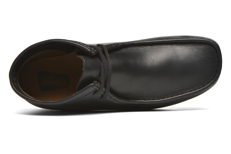 Schnürschuhe Clarks Originals Wallabee Boot M schwarz ansicht von links