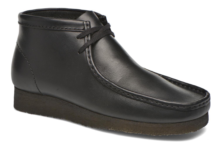 Chaussures à lacets Clarks Originals Wallabee Boot M Noir vue détail/paire