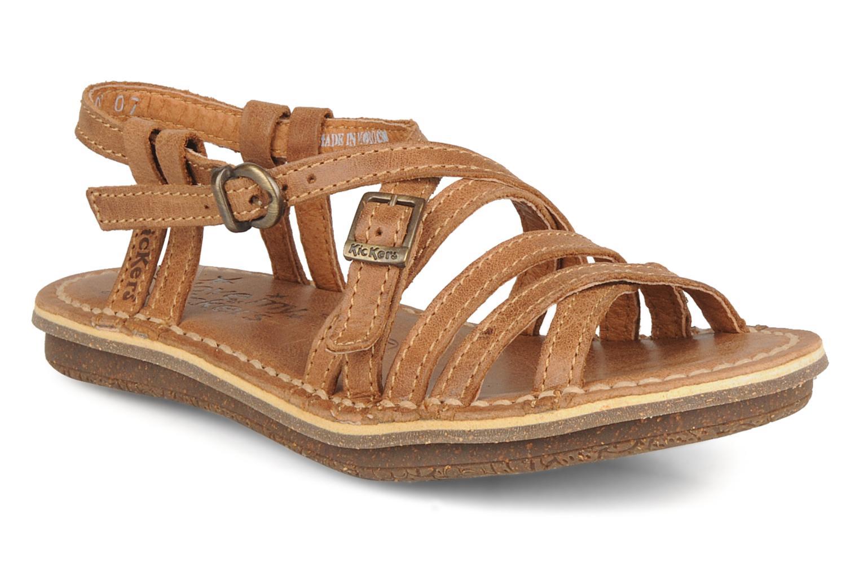 Sandales et nu-pieds Kickers Pinuts Marron vue détail/paire