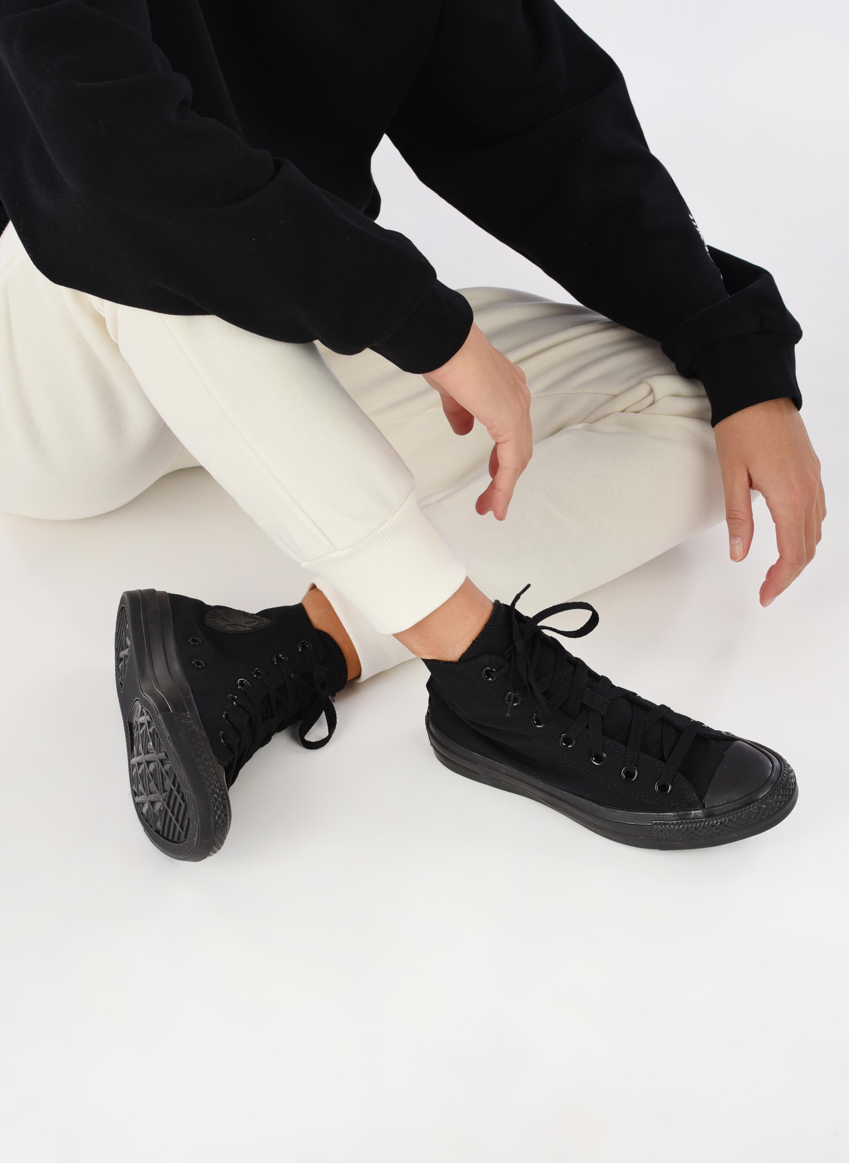 Sneakers Converse Chuck Taylor All Star Monochrome Canvas Hi W Nero immagine dal basso