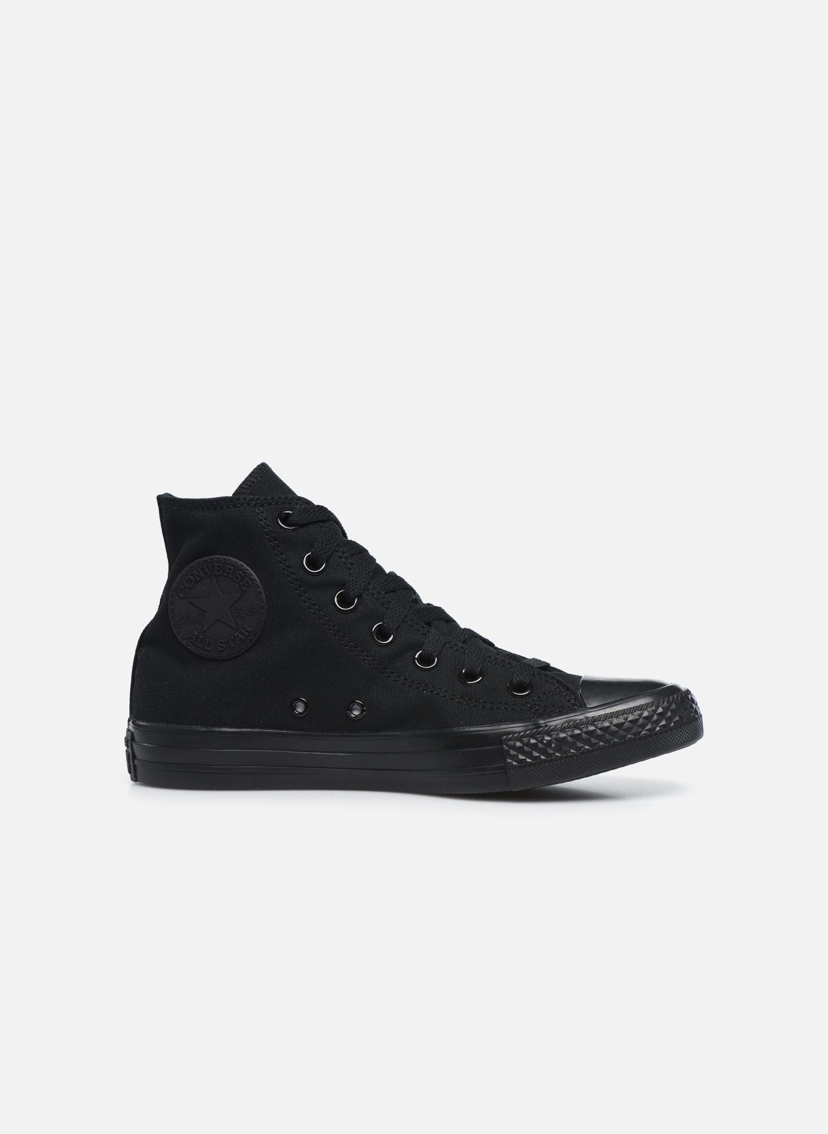 Baskets Converse Chuck Taylor All Star Monochrome Canvas Hi W Noir vue derrière