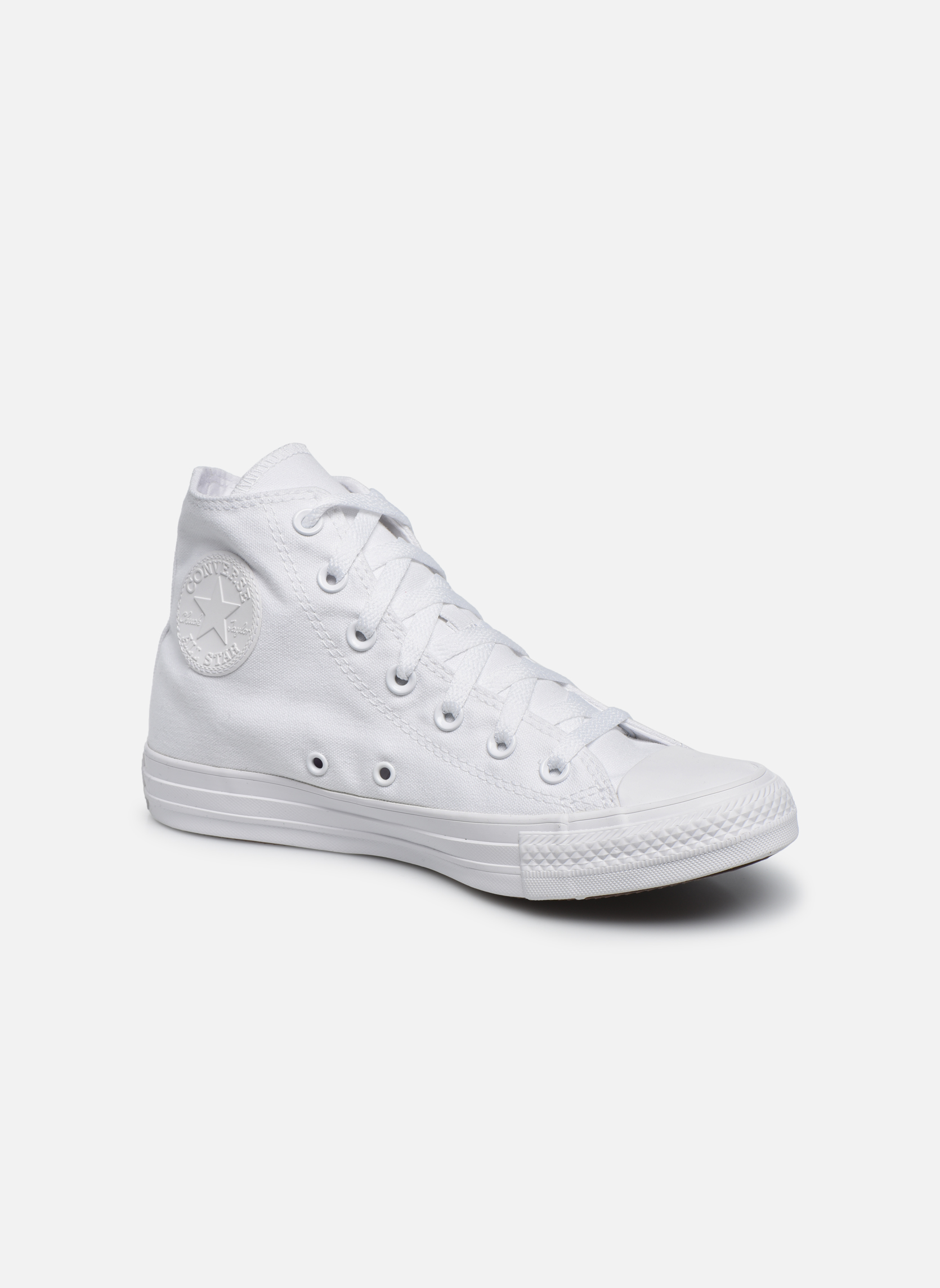 Baskets Converse Chuck Taylor All Star Monochrome Canvas Hi W Blanc vue détail/paire