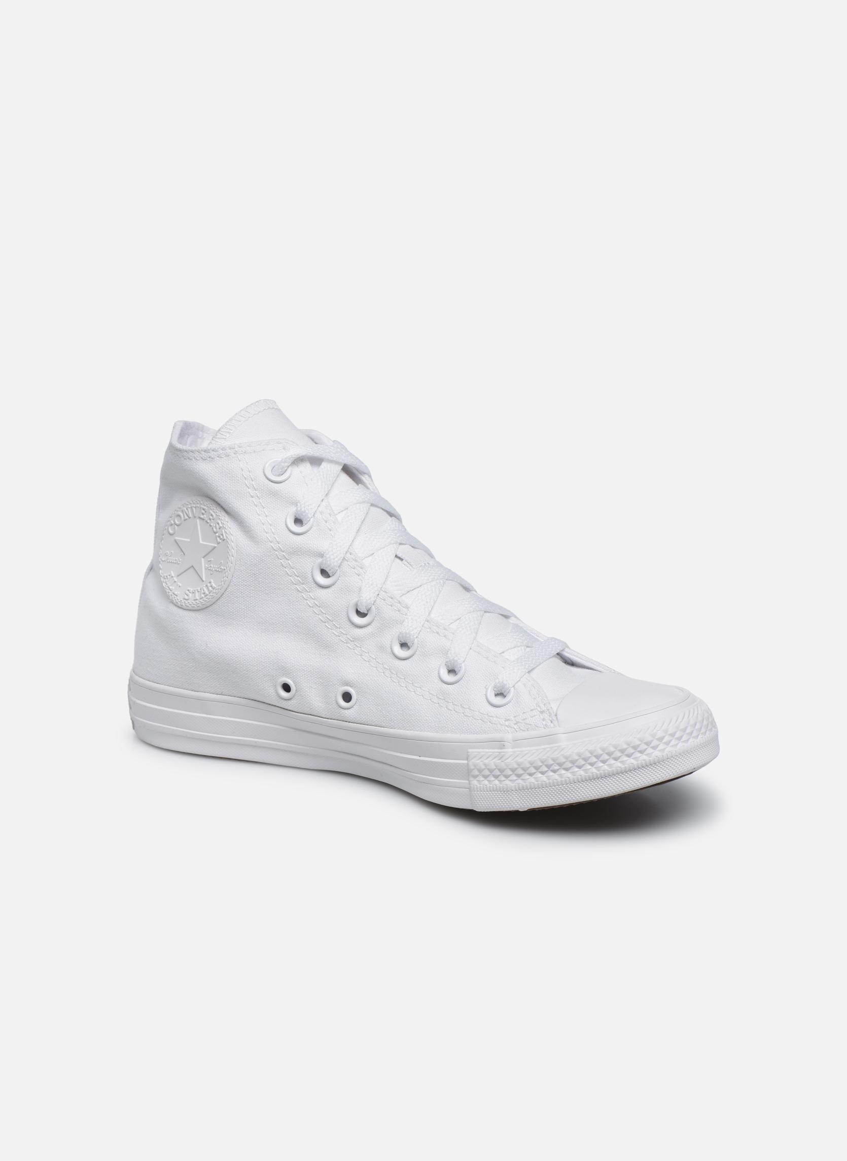 Sneaker Converse Chuck Taylor All Star Monochrome Canvas Hi W weiß detaillierte ansicht/modell