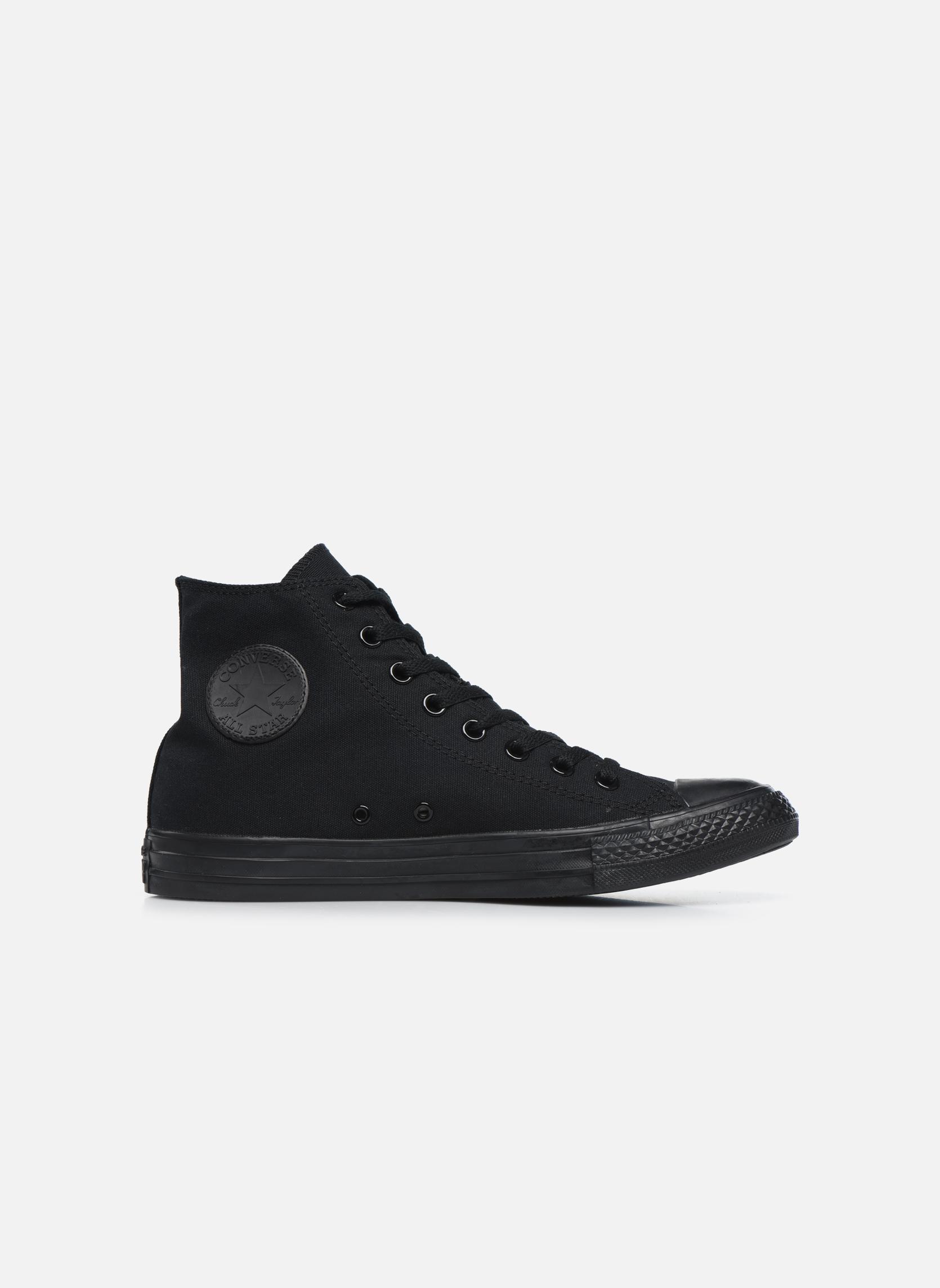 Sneakers Converse Chuck Taylor All Star Monochrome Canvas Hi M Zwart achterkant