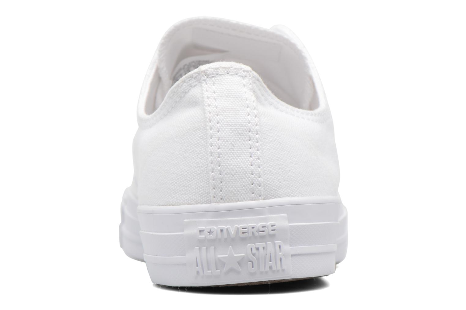 Trainers Converse Chuck Taylor All Star Monochrome Canvas Ox M White view from the right