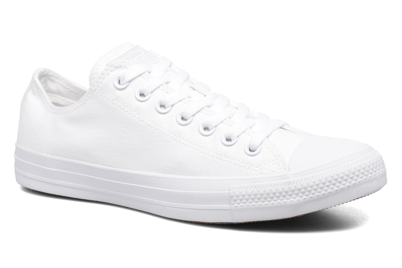 Sneakers Converse Chuck Taylor All Star Monochrome Canvas Ox M Hvid detaljeret billede af skoene