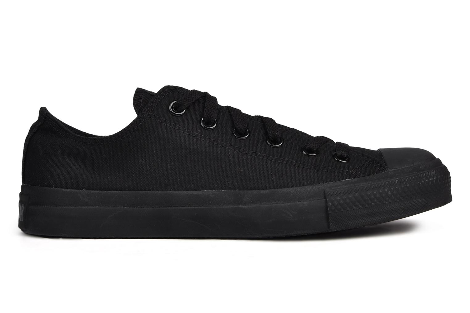 Baskets Converse Chuck Taylor All Star Monochrome Canvas Ox M Noir vue derrière