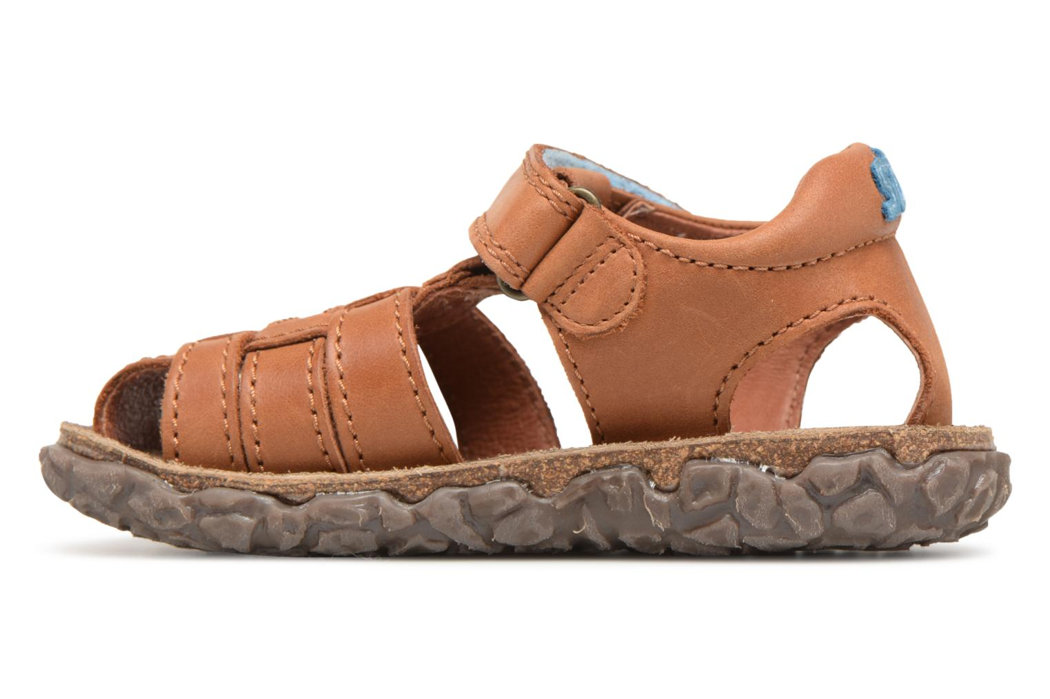 Sandals Stones and Bones Raxi Brown front view