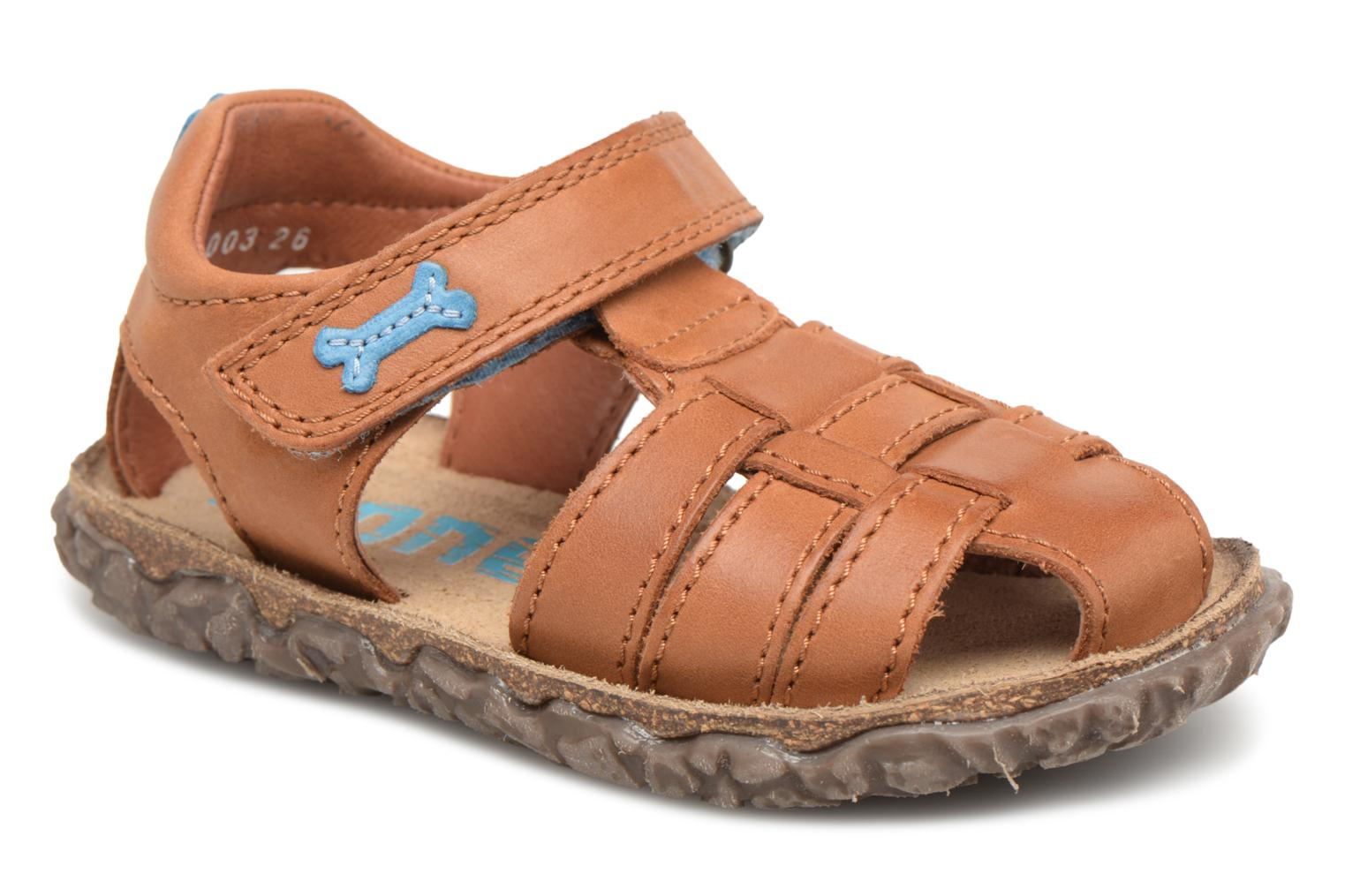 Sandals Stones and Bones Raxi Brown detailed view/ Pair view
