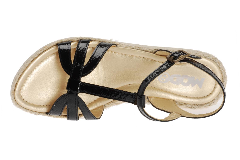 Sandales et nu-pieds Mod8 Espere Noir vue gauche