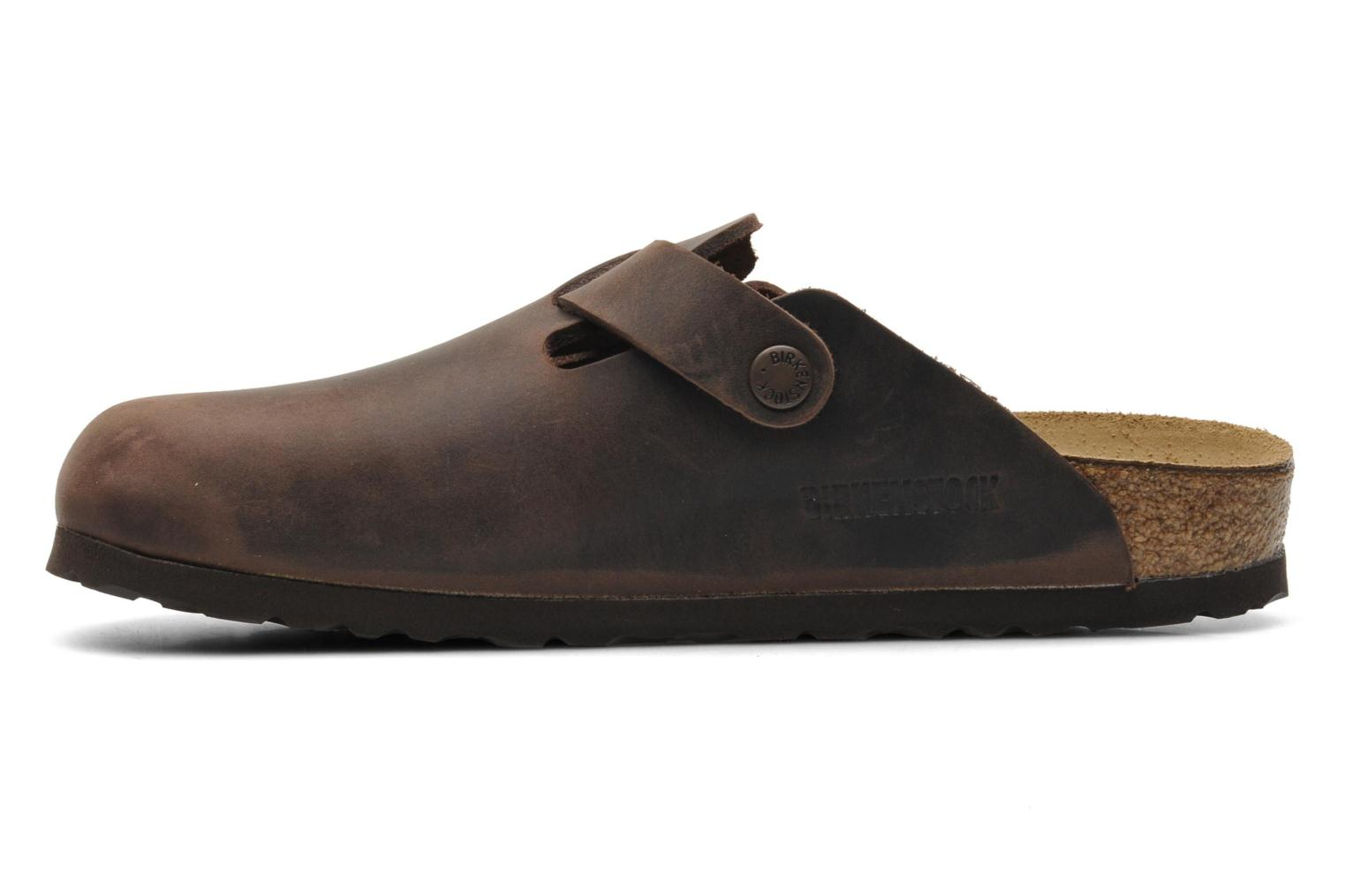 Mules & clogs Birkenstock Boston Cuir W Brown front view