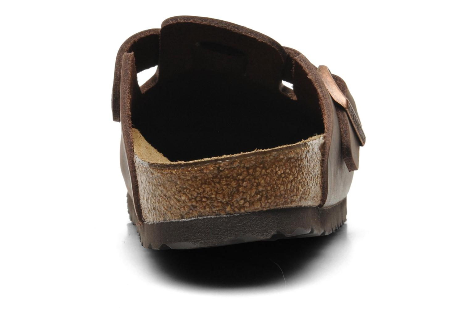 Mules & clogs Birkenstock Boston Cuir W Brown view from the right
