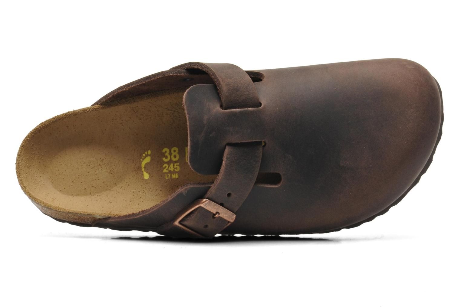 Mules & clogs Birkenstock Boston Cuir W Brown view from the left