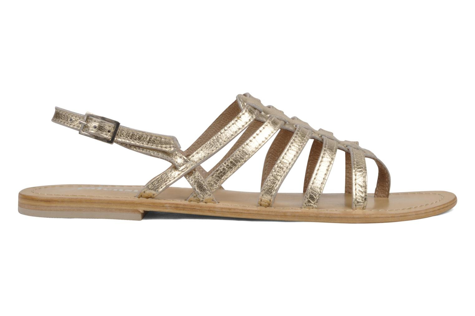 Sandals Valensi Spinata Bronze and Gold back view