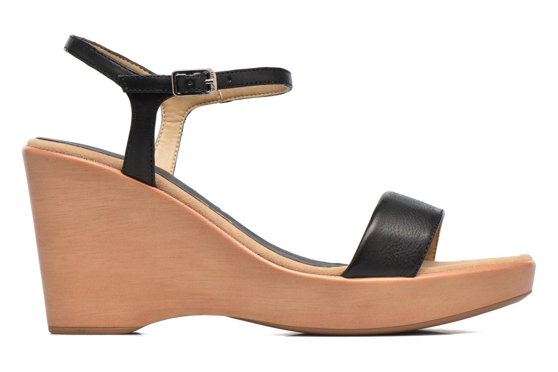 Sandales et nu-pieds Unisa Rita Noir vue derrière