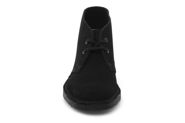 Chaussures à lacets Clarks Desert Boot W Noir vue portées chaussures