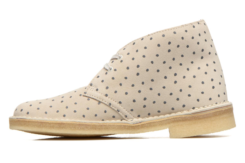 Chaussures à lacets Clarks Desert Boot W Beige vue face