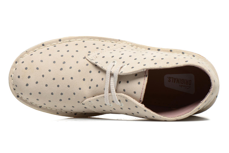 Chaussures à lacets Clarks Desert Boot W Beige vue gauche
